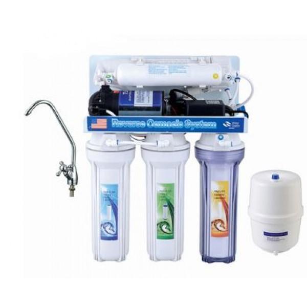 Фильтр для воды 5-ступенчатый с помпой (система обратного осмоса YL-RO50G-1)