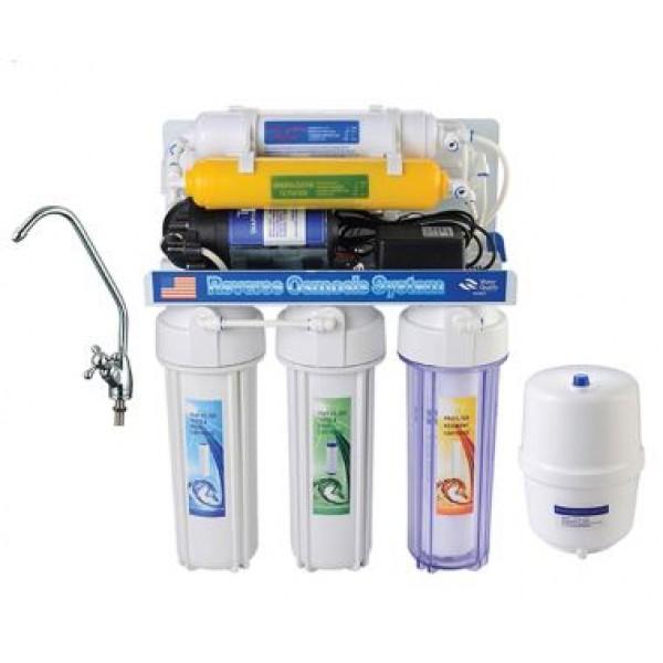 Фильтр для воды 6-ступенчатый с помпой (система обратного осмоса YL-RO50G-3)